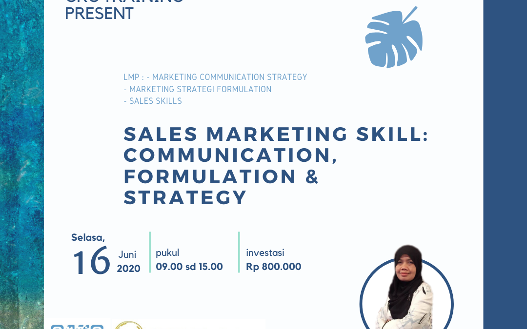 Online Training : Sales Marketing Skill : Communication, Formulation & Strategy